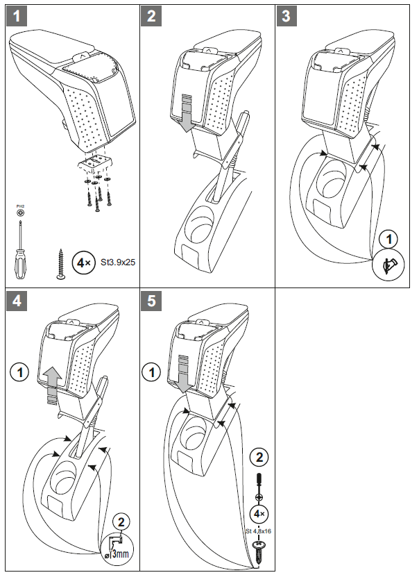 Подлокотник на рено сандеро своими руками размеры