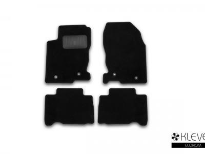 Коврики в салон для Lexus NX, 2014-н.в., 4 шт. (текстиль, тёмно-серый и бежевый цвет) (Novline)