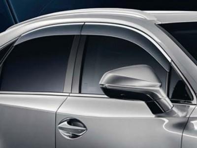 Дефлекторы окон c хромированной полосой для Lexus NX 2014-н.в., (оригинал) (Lexus)
