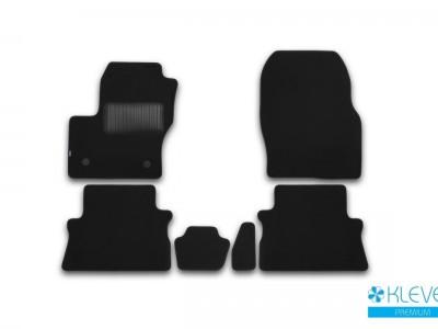 Коврики в салон (Novline) для Ford Kuga 2012- н.в., 5 шт. (текстиль, тёмно-серые)