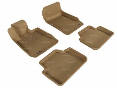 Коврики салона 3D LUX Sotra для BMW 3** E90/91 2004-2012, 2 ряда 5 частей, чёрный цвет