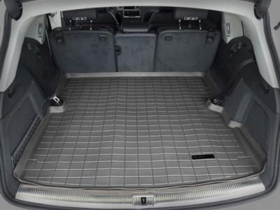 Коврик в багажник Weathertech (USA) для Audi Q7, 2005-2015, (цвет: чёрный, серый и бежевый)