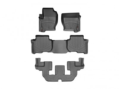 Коврики в салон 3D WeatherTech для автомобиля Land Rover Discovery IV 2013-2016, комплект: 3 шт.
