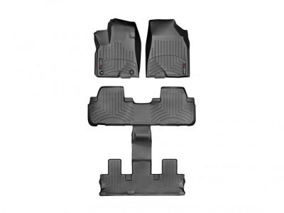 Коврики в салон 3D Weathertech (USA) для Toyota Highlander, с раздельными сидениями во 2 ряду, 2016-н.в.
