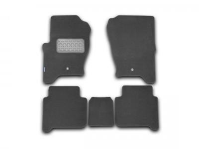 Коврики в салон (Novline) для Land Rover Range Rover Sport 2005-2013, 5 шт. (текстиль, чёрные, серые, бежевые)