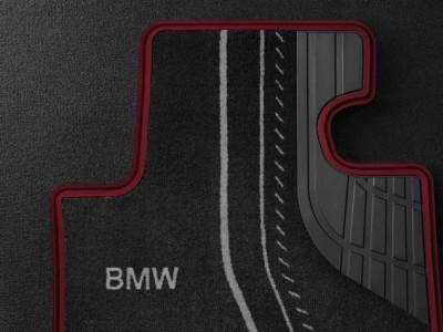 Велюровые коврики Sport Line для BMW F32 4-серия, передние для автомобилей с полным приводом (BMW) (Original)
