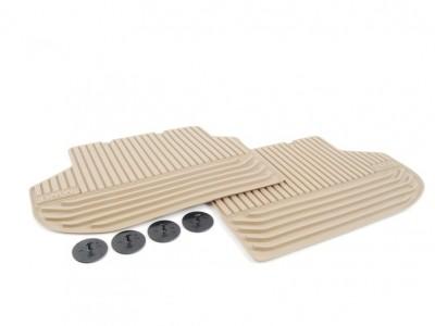 Резиновые ножные коврики для BMW F10 5-серия, 2009-2016, задние, (BMW) (Original)