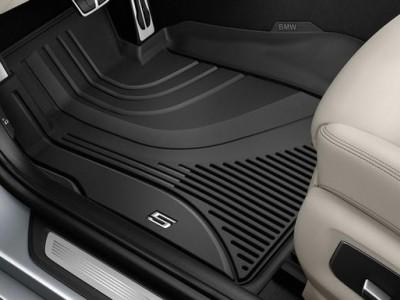 Всепогодные ножные коврики для BMW G30 5-серия, предние, 2016- н.в. (BMW) (Original)