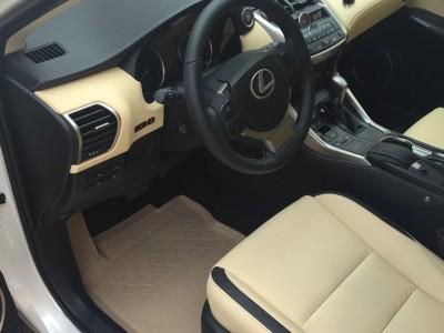Комплект бежевых резиновых ковриков для Lexus NX, 2014-н.в., (оригинал) (Lexus)