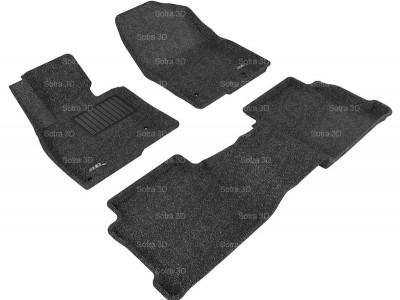 Коврики салона 3D LUX Sotra для Mazda 6 2012-2016, 2 ряда 3 части, чёрный цвет
