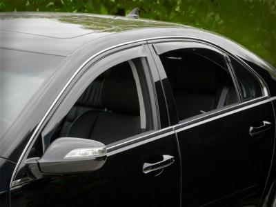 Дефлекторы окон (Weathertech) (USA) для Acura RL, 2005-2012, (передние, задние; светлые)