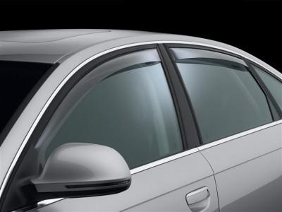 Дефлекторы окон (Weathertech) (USA) для Audi A6 Sedan, 2004-2011 (передние, задние; светлые)