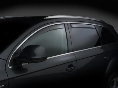 Дефлекторы окон (Weathertech) (USA) для Audi Q7, 2005-2015, (передние, задние; светлые)