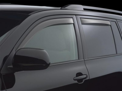 Дефлекторы окон (Weathertech) (USA) для Toyota Highlander, 2013-2016, (передние, задние; светлые, тёмные)
