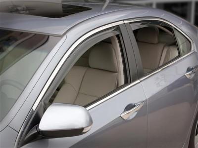 Дефлекторы окон (Weathertech) (USA) для Acura TSX sedan, 2008-н.в., (передние, задние; светлые, тёмные)