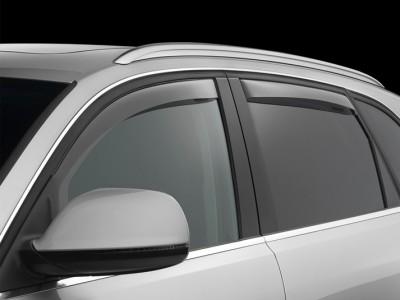 Дефлекторы окон (Weathertech) (USA) для Audi Q5, 2008-2016, (передние, задние; светлые, тёмные)
