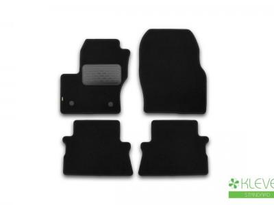 Коврики в салон (Novline) для Ford Kuga 2012- н.в., 4 шт. (текстиль, тёмно-серые)