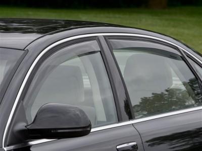 Дефлекторы окон (Weathertech) (USA) для Audi A8, Long Wheelbase, 2002-2010, (передние, задние; светлые)