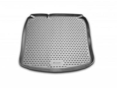 Коврик в багажник Novline для AUDI A-3 3D 2003-2012, хб. (полиуретан; чёрный; серый)