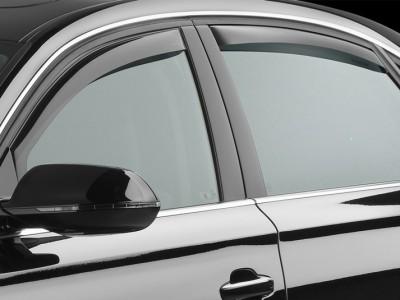 Дефлекторы окон (Weathertech) (USA) для Audi A8, Standart Wheelbase, 2010-2017, (передние, задние; светлые, тёмные)