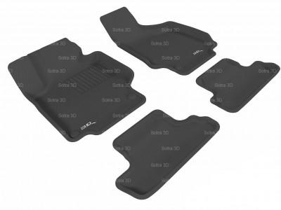 Коврики салона 3D LUX Sotra для Audi TT 2006-н.в. (8J), 2 ряда 4 части, чёрный цвет