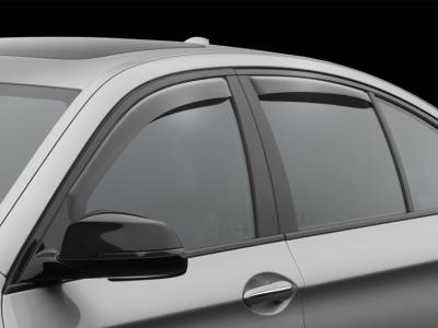Дефлекторы окон (Weathertech) (USA) для BMW 5 серия F10 2009-2016, (передние, задние; тёмные, светлые)