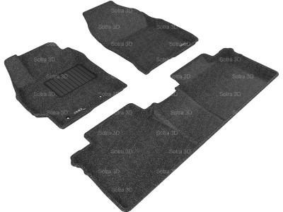 Коврики салона 3D LUX Sotra для Toyota Corolla (для Europe) 2013- н.в., 2 ряда 3 части, чёрный цвет