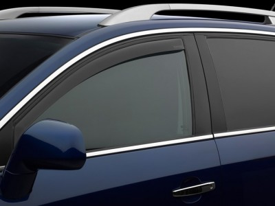 Дефлекторы окон (Weathertech) (USA) для Audi A3, convertable, 2016-н.в., (передние; светлые, тёмные)
