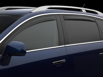 Дефлекторы окон (Weathertech) (USA) для Toyota Highlander, 2016-н.в., (передние, задние; светлые, тёмные, прозрачные)