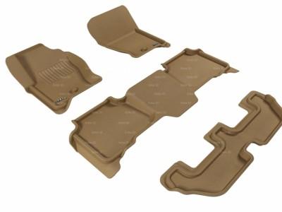 Коврики салона 3D LUX Sotra для Land Rover Discovery 3 2005-2009, 3 ряда 4 части, чёрный цвет