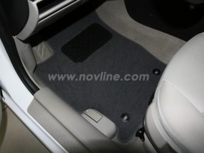 Коврики в салон (Novline) для FAW Besturn B50 sedan 2012-н.в., 5 шт. (текстиль, чёрные, серые, бежевые)