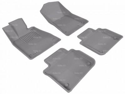 Коврики салона 3D LUX Sotra для Lexus GS (L10) RWD 2012-н.в., 2 ряда 5 частей, чёрный и бежевый цвет