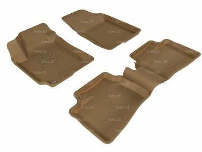 Коврики салона 3D LUX Sotra для Kia Ceed 2006-2012, 2 ряда 5 частей, чёрный цвет