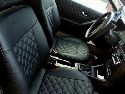 Оригинальные модельные чехлы на сидения для автомобиля Audi 80 В3 1986-1991 (материал: твид, кожзам; любые тона)