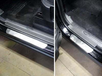 Накладки на пороги защитные из нержавеющей стали в ассортименте для Land Rover Discovery, 2009-2016 (TCC)