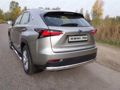 Защита задняя (овальная) 75х42 мм для Lexus NX, 2014-н.в. (ТСС)