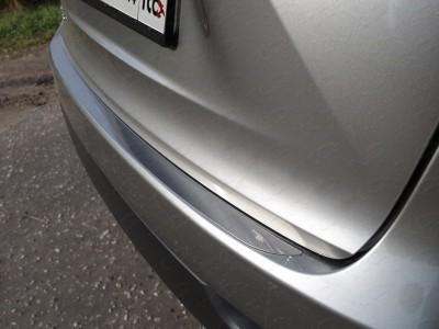 Накладка на задний бампер (лист зеркальный) для Lexus NX, 2014-н.в., (ТСС)