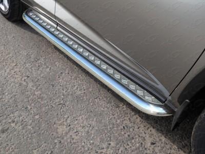 Пороги с площадкой 60,3 мм для Lexus NX, 2014-н.в., (ТСС)