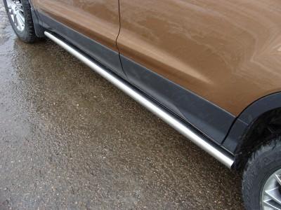 Пороги труба 60.3 мм для Ford Kuga 2016- н.в., (TCC)