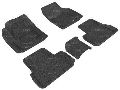 Коврики салона 3D LUX Sotra для Land Rover Discovery Sport 2015-н.в., 2 ряда 5 частей, чёрный цвет