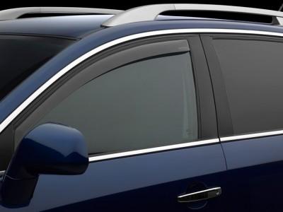 Дефлекторы окон (Weathertech) (USA) для Audi A8, Standart Wheelbase, 2002-2010, (передние; светлые)