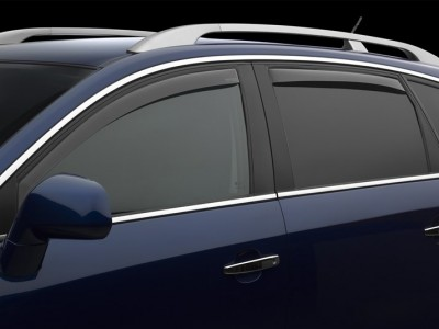 Дефлекторы окон (Weathertech) (USA) для Audi A6 Avant, 2004-2011 (передние, задние; светлые)