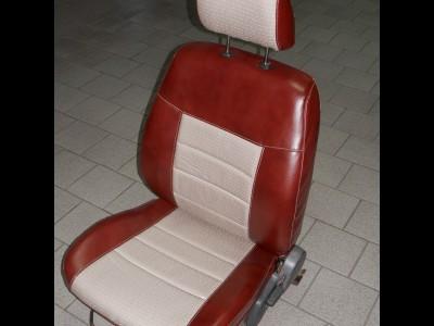 Оригинальные модельные чехлы на сидения для автомобиля  Audi A6 C5 седан/ универсал/ рекаро 1997-2004 (материал: твид, кожзам; любые тона)