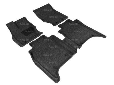 Коврики салона 3D LUX Sotra для Land Rover Range Rover Autobiography Long (без консоли) 2013-н.в., 2 ряда 5 частей, чёрный цвет