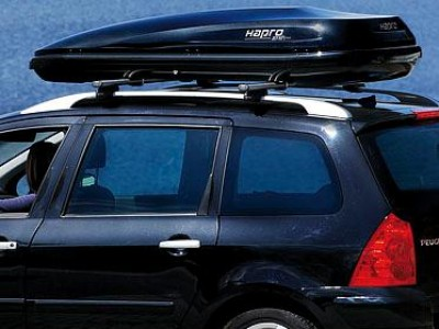 Бокс автомобильный Hapro Zenith 8.6 (215х88х37 см.) (Нидерланды) цвет: чёрный глянцевый, серебристый карбон, белый глянцевый