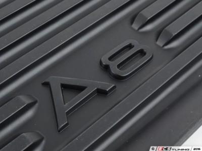 Комплект задних резиновых ковриков для Audi A8 2013-2017(standart, long), 2шт. (Original) (VAG)