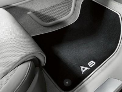 Коврики в салон (VAG) для Audi A8 (standart, long) 2013-2017, 4 шт. (текстиль, чёрные)