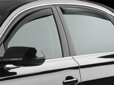 Дефлекторы окон (Weathertech) (USA) для Audi A8 (standart, long) 2013-2017, (передние, задние; тёмные, светлые)