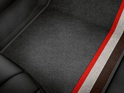 """Коврики в салон (VAG) для Audi A1  2010-2014, 4 шт. (текстиль, чёрные """"Competition kit legends"""")"""