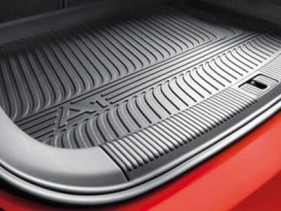 Коврик в багажник VAG (оригинал) для Audi A1 (8X) 2010-2014, 1 шт. (цвет чёрный и антрацит)